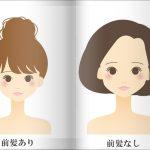 顔の輪郭から考えた「前髪ありタイプ」と「なしタイプ」